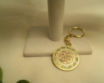 Sale- Beautiful Women's Round Travelers Prayer Judaic Keychain- Birthday Gift Her Mom Mother Teen Wife Girlfriend. Judaic Hebrew Gift