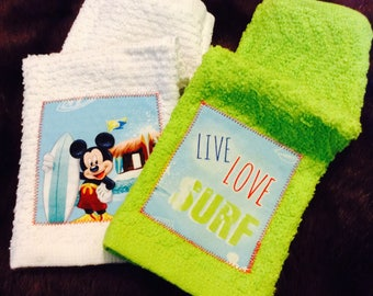 Surf's Up! Classic Mickey Mouse Washcloth Set
