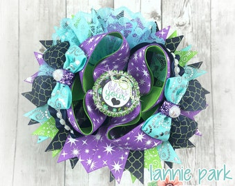 Bless your Heart Boutique Bow ~ Heart Layered Bow ~ Blessed Stacked Bow ~