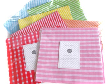 Multi-Pack of 96 total sheets- Choose your own colors Wax Food Paper-Food Wrap-Basket Liner