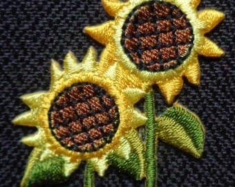 sunflowers  iron on patch