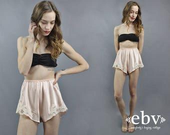 Pink Tap Shorts Lace Shorts Pink Shorts Vintage Lingerie Bridal Lingerie Honeymoon Lingerie 90s Lingerie Bedroom Shorts Boudior Shoot S M L