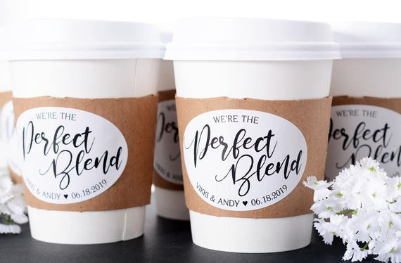 wedding coffee cups - wedding coffee bar - hot chocolate - drink cups