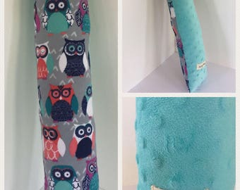 Seatbelt Pillow - Car Seat Pillow - Traveling Pillow - Pillow for Girls - Owl Pillow