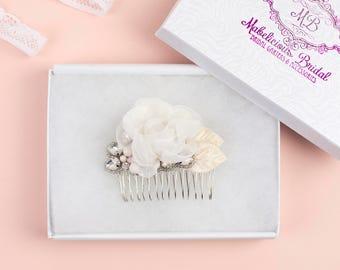 Hairpiece UK - Bridal Haircomb - New Luxury 'Flora' Bridal Hair Piece - Wedding Haircomb UK - Bridesmaid Hair Comb - Bridal Hair UK