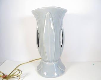 Blue Ceramic Lamp | Etsy