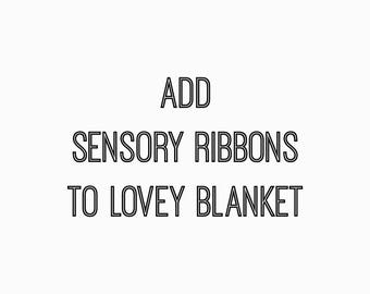 Add on listing : Add ribbons to lovey blanket