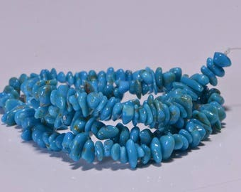 Sleeping Beauty Turquoise Chips Beads 7 mm Natural Gemstone Beads