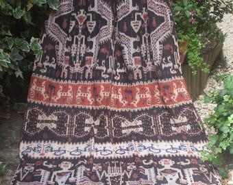 Early Vintage Sumba Ikat textile, wall hanging, woven Ikat cloth, Ikat throw, Ikat blanket, woven throw, hand made throw