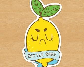 Bitter Babe // Grumpy Lemon Sticker