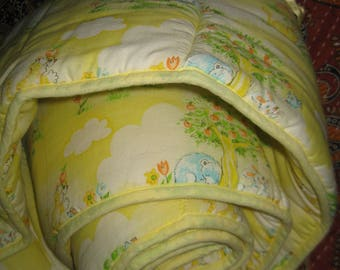 Vintage Dundee Crib Bumper - Yellows, Greens and Blues  ADORABLE!