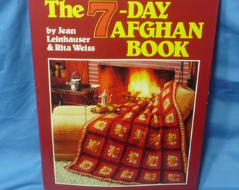 7-Day Afghan Book, Leinhauser Weiss, 1985