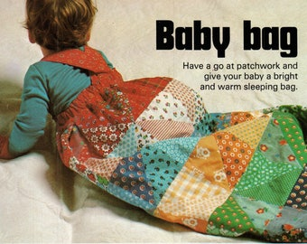 PDF Patchwork Sewing Baby Bag, Sleeping Bag, Baby Bunting, Baby SnowSuit, Pattern, Baby Playsuit, Instant Download