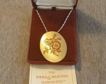 Reed & Barton damascene necklace
