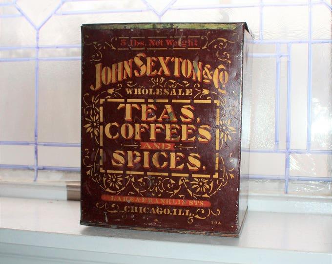 Antique Tea Coffee Spice Store Display Bin Dispenser John Sexton 1800s