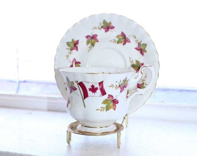 Vintage Royal Albert Canada Tea Cup and Saucer From Sea To Sea