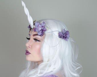 Lavender unicorn crown - halloween headpiece cosplay