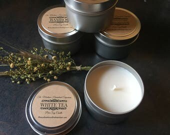 4 oz tin candle travel candle small candle gift choose your scent sample candle travel tin candle Montana made candles and gifts
