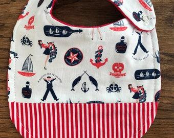 Patriotic Sailor Baby Bib