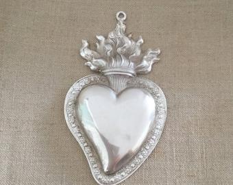 Vintage Heart Ex Voto, ExVoto in metal