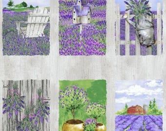Clothworks - Lovely Lavender Panel