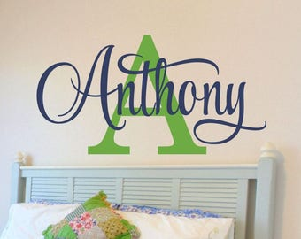Personalized Wall Decal - Boys Name Wall Decal - Nursery Wall Decal - Personalized Name Decal - Vinyl Wall Decal - Boys Name Decal