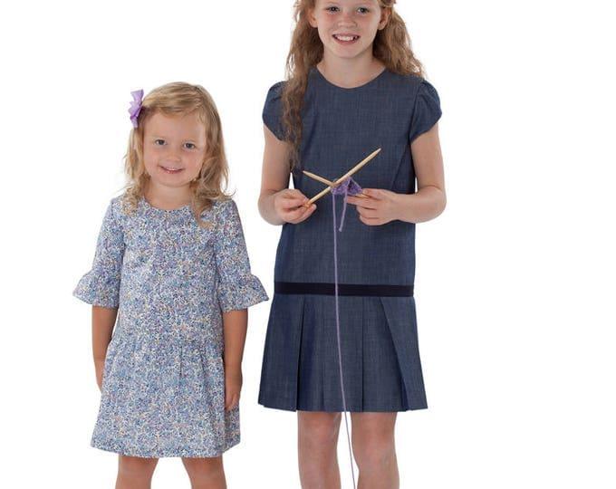 Childrens Corner / Molly Pattern / Dropped Waist  /  Pleated Skirt / Gathered Skirt / Zipper Back / Button back / Multiple Sleeves / 296