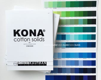KONA Color Card, 340 Colors released 2017, Robert Kaufman Fabric, Kona Fabric Sampler