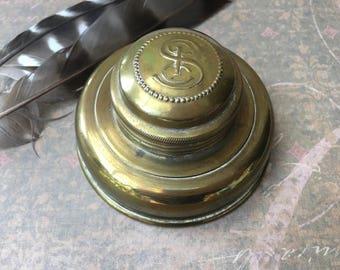 Unusual Little Brass Travel Lantern Light