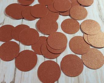 Copper Circle die cut confetti, Paper circle decoration, Wedding confetti, Birthday confetti,  Mix and Match