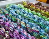 13 skeins of hand dyed silk threads, a great mix of colours and textures - STh19