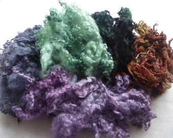 Great British hand dyed felting fleece pack - 100g - Bag 62