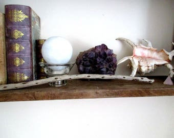 English Jurrassic Coast Natural Sea Washed Driftwood Gorse Wand. Love, Passion, Romance, Protection.