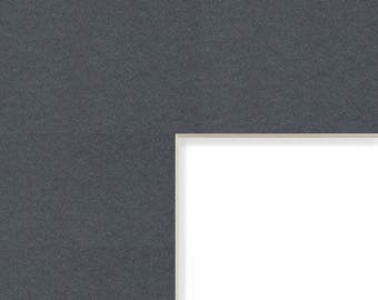 8x10-Inch Mat, 4x5 Inch Single Opening Image, Graphite Gray with Cream Core (B57308100405)
