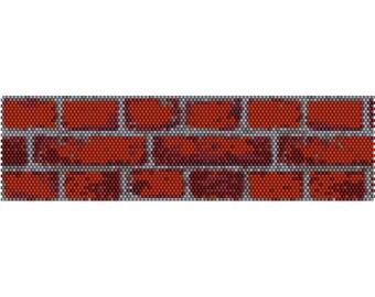 Bricks Peyote Bead Pattern, Bracelet Cuff Pattern, Bookmark, Seed Beading Pattern Miyuki Delica Size 11 Beads - PDF Instant Download