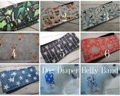 Waterproof PUL Dog Diaper Belly Band, Male Dog, Personalized, FAST shipping