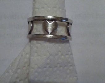 Authentic Tiffany sterling band of hearts