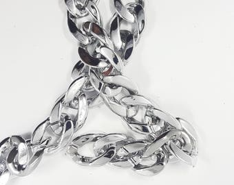 Silver Lightweight Chain Trim, Silver Twisted Cable Chain, Open Link Chain