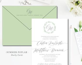 Summer Poplar Wedding Invitations