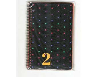 rainbow paper pad mixed color pages rainbow notebook polka dot journal set of 2