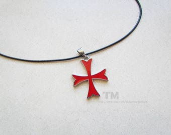 Templar cross etsy may the father of understanding guide us knights templar cross inspired necklace aloadofball Image collections