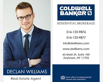 Coldwell Banker real estate DELUXE business cards - thick, color both sides - FREE UPS ground shipping