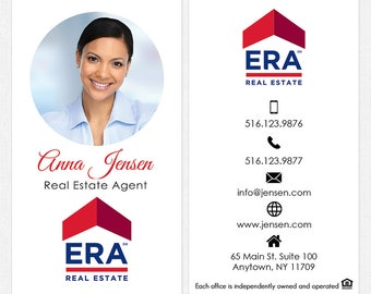 ERA real estate business cards - thick, color both sides - FREE UPS ground shipping