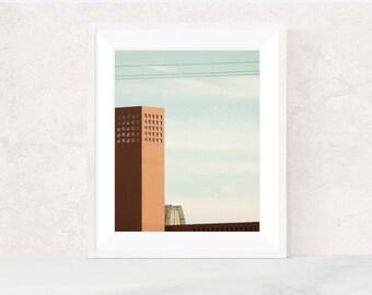 Digital download | ON ANOTHER DAY | architecture photo | scandinavian print | modern minimalist art print | printable art | office decor