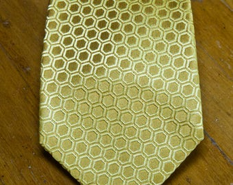 Vintage Jim Thompson Yellow Gold Thai Silk Tie