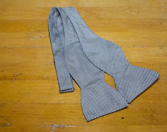 Vintage polo Ralph Lauren Silk Small Houndstooth Bow Tie