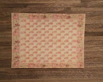 Dollhouse Miniature Rug, Rosalee, Scale One Inch