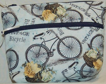 Bicycles Double Zipper Pouch