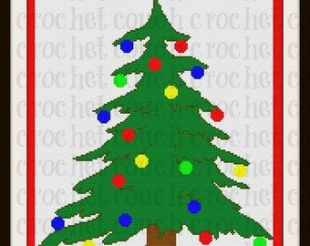 Christmas Tree SC Graph, Word Chart, Christmas Tree Afghan