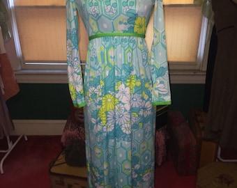 Vintage Flower Power Dress